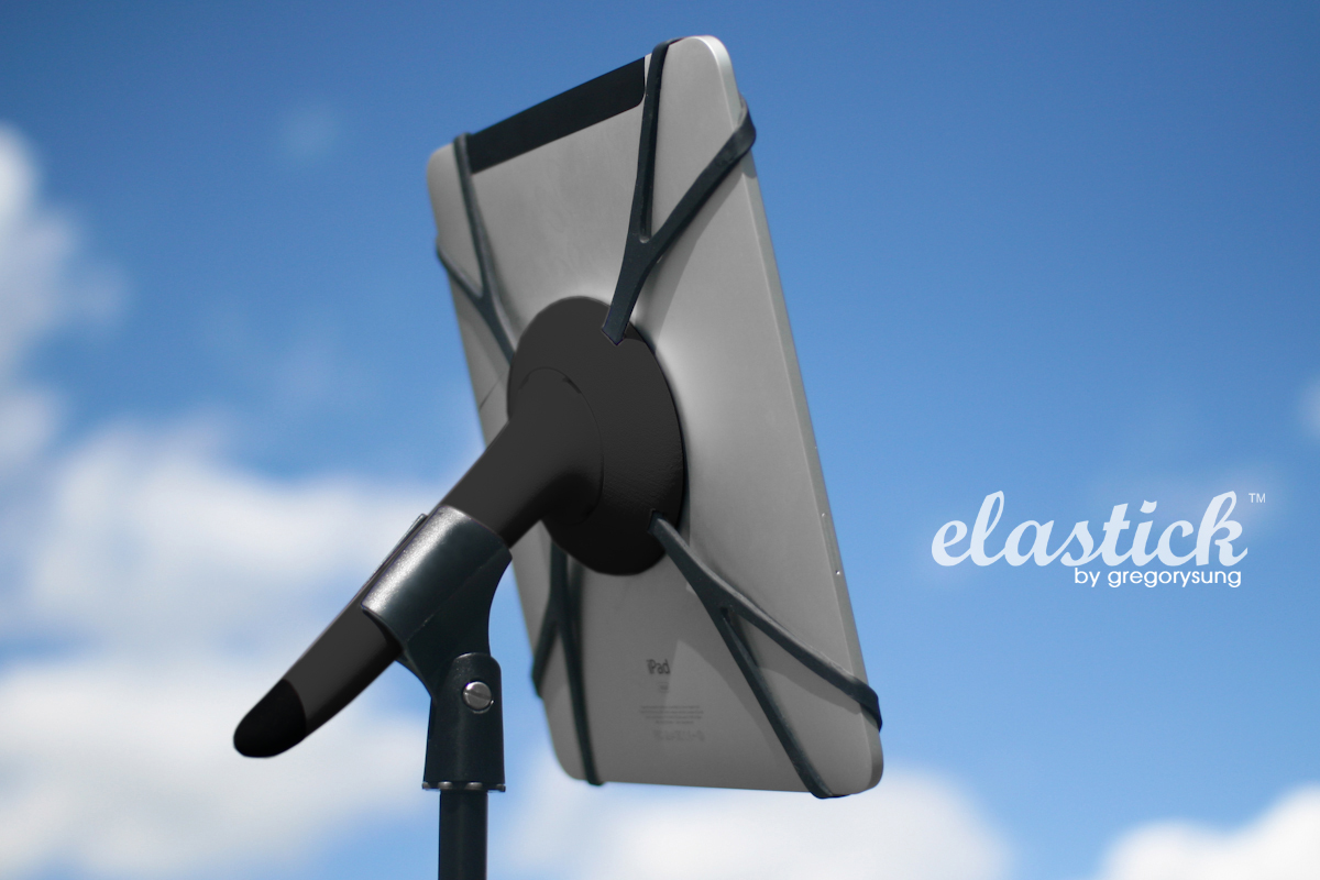 ELASTIC iPad stand for musicians by gregorysung gregory polletta sung jang